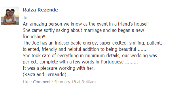 Testimonial Wedding Ceremony