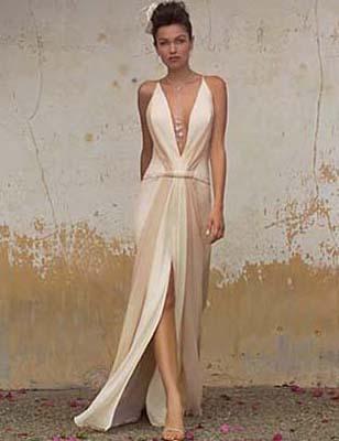 Wedding story blog wedding dresses with a plunging neckline for Plunge neck wedding dress
